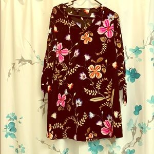 Express Dresses - NEW Express black floral dress